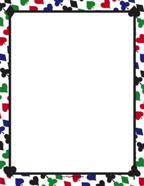 video game wallpaper border colorful card suites border