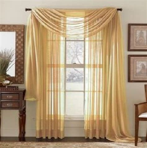 what colour goes with gold curtains elegant comfort 174 2 piece solid sheer 40 quot x 84 quot window