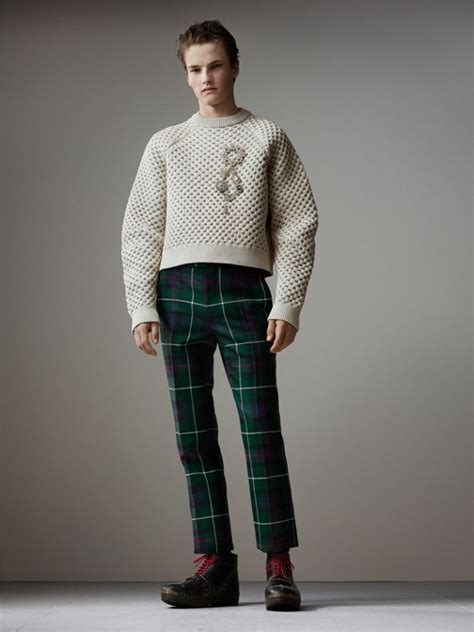 Sweater Crop United Ta5641 s patchwork of knits burberry united kingdom