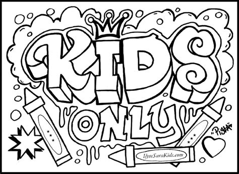 graffiti words coloring pages for teenagers coloring pages