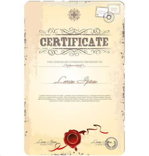 design certificate template cover of certificate design template vector 03 vector