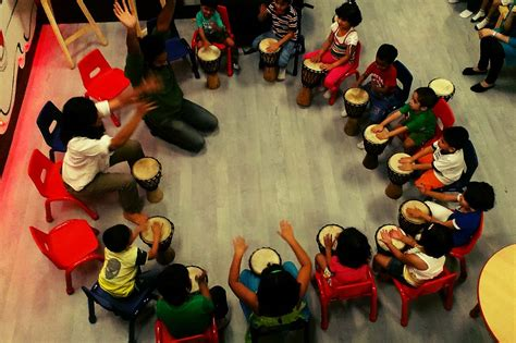 rhythm path drum circle drum circle events for kids in pune india taal inc