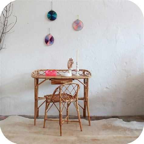 bureau rotin mobilier vintage bureau rotin 233 es 50 atelier du