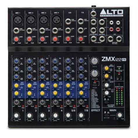 Mixer Alto 12 Ch alto zmx122fx digital mixer pa equipment at