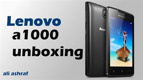 Lenovo A1000 Unboxing & Review   YouTube