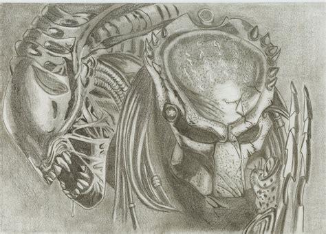 vs predator drawings predator pencil and in color