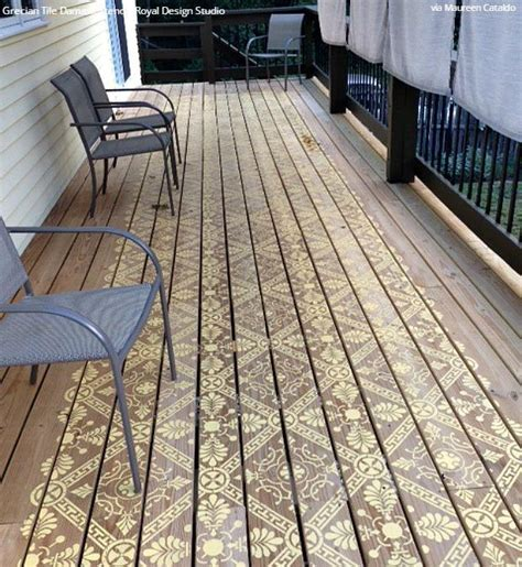 diy decorating ideas  stenciling  porch  patio floor
