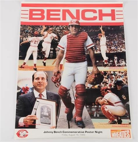 johnny bench poster commemorative johnny bench poster ebth