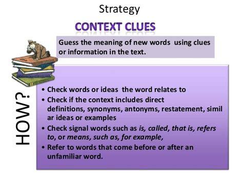 design context meaning context clues