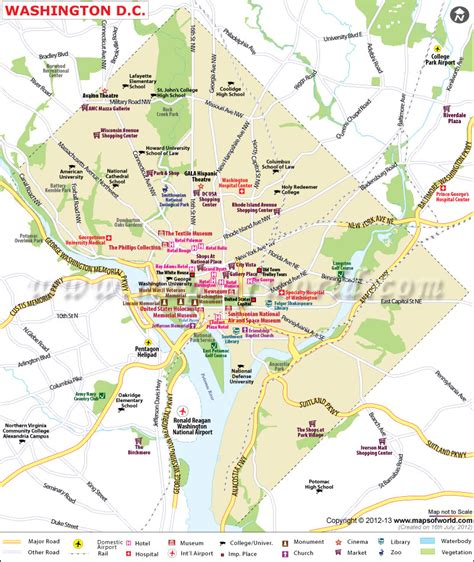washington dc map capital   united states