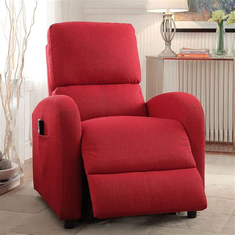 red fabric recliner chair croria living room recliner lounger chair power lift
