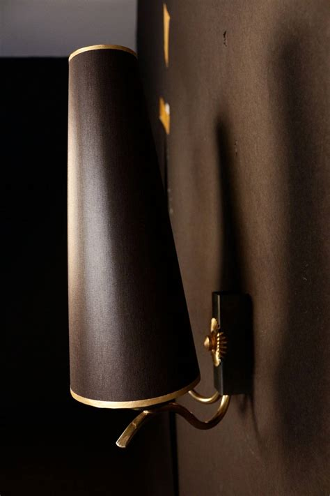 With Light For 7009 Black 43sogt pair of 1950s sun sconces by maison arlus for sale at 1stdibs