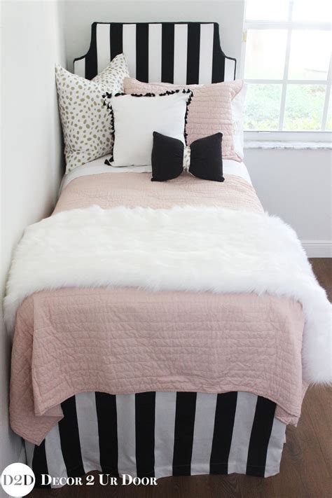 designer girls bedding blush black gold fur designer teen girl bedding set