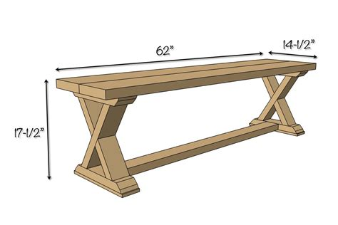 dimensions of bench diy x brace bench free easy plans rogue engineer