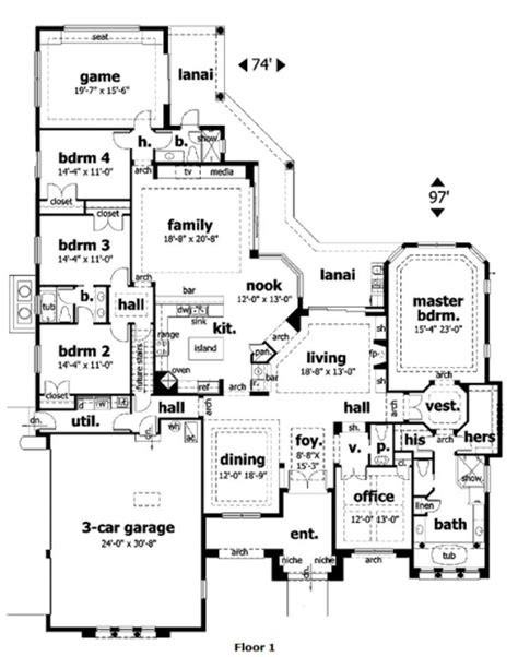84 Best Images About House To A Home On Pinterest Luxury Single Story House Plans With Bonus Room