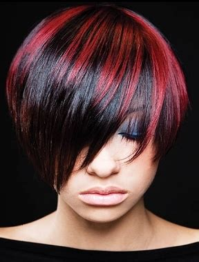 Types Of Highlights For Black Hair by Black Hair With Color Highlights Fashion Trends Styles