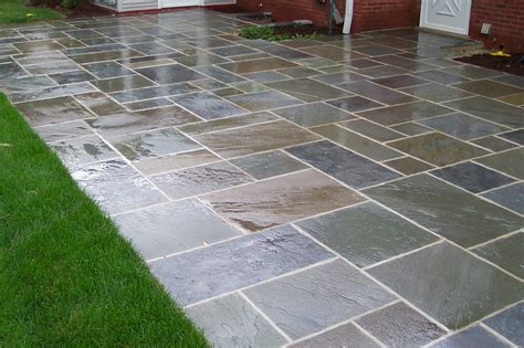 Patio With Concrete Pavers Bluestone Patio Pavers Patio Design Ideas