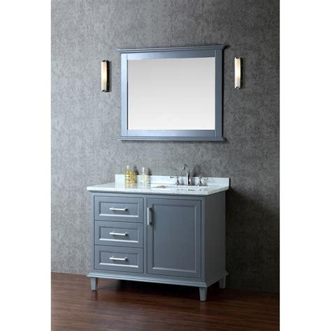 Bathroom Vanities And Mirrors Sets Ariel Bath Scnan42swg Nantucket 42 Single Sink Bathroom Vanity Set With Mirror In Whale Grey