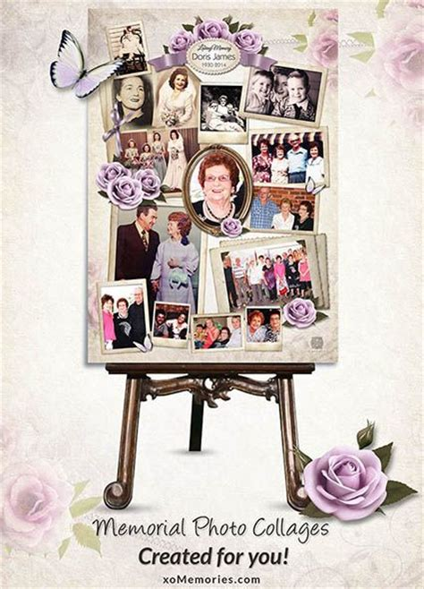52 Best Images About Memorial Service On Pinterest Picture Boards Funeral Tributes And Heavens Funeral Photo Collage Template