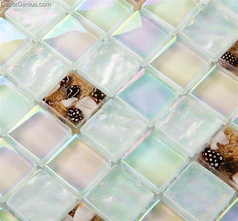 Handmade Glass Tiles - handmade sea shell mosaic tiles of shell