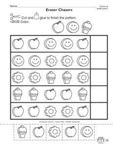 ab pattern kindergarten worksheets best photos of groundhog ab patterns worksheet heart