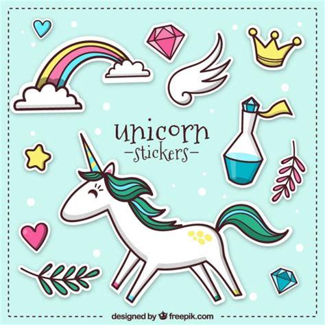 Descargar Imagenes De Unicornios Gratis | pegatinas de unicornio descargar vectores gratis