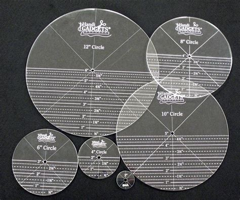 arm quilting templates rulers handi quilter ruler set circles templates