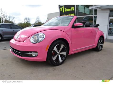 pink convertible cars 2013 custom pink volkswagen beetle turbo convertible