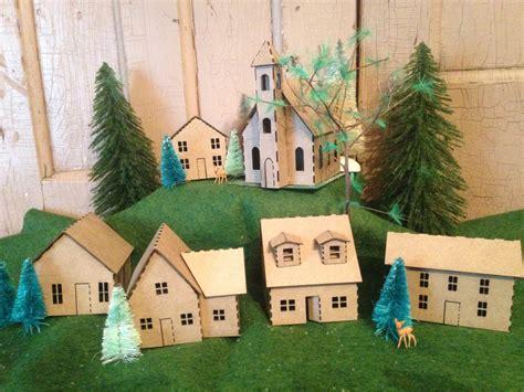 putz houses putz house kit diy 6 miniature houses chipboard kit