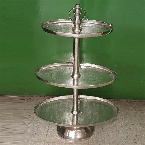 etagere oval metall etagere oval h96cm silber