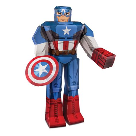Captain America Papercraft - captain america 12 inch marvel blueprints papercraft
