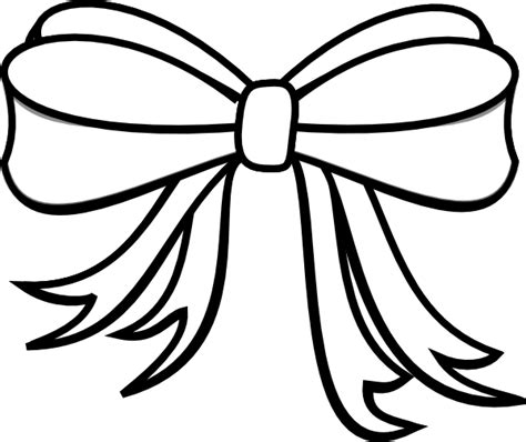 girl bow coloring page gift bow white clip art at clker com vector clip art
