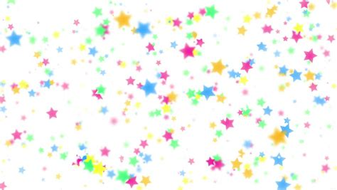 animation  colorful stars falling stock footage video