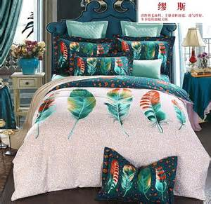 feather print bedding colorful feather bedding sets king size