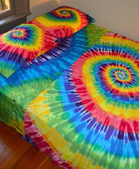 rainbow tie dye comforter hand dyed queen sheet set in vibrant rainbow tie dye colors