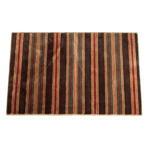 Striped Bath Rug Brown Striped Bath Rug