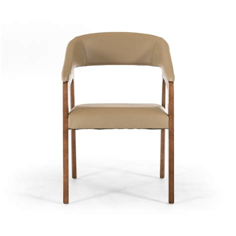 Taupe Dining Room Chairs Modrest Clive Mid Century Taupe Walnut Dining Chair Dining Chairs Dining Room
