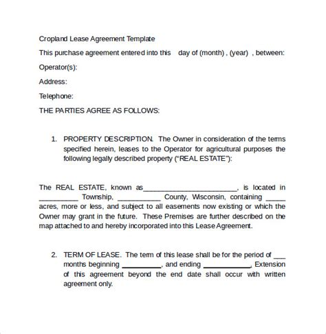 Land Lease Agreement Letter Sle Land Lease Agreement 11 Free Documents In Pdf Word