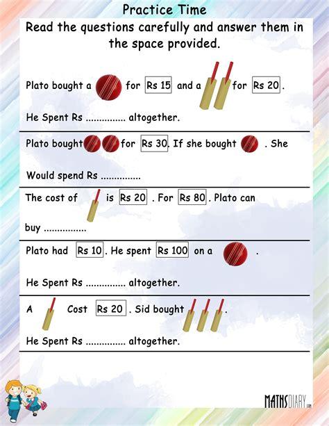 Math Practice Grades 1 2 word problems grade 2 math worksheets