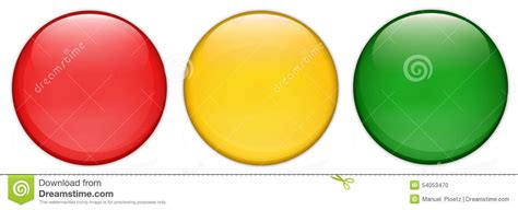 red yellow green light set of empty glossy traffic light web buttons glossy
