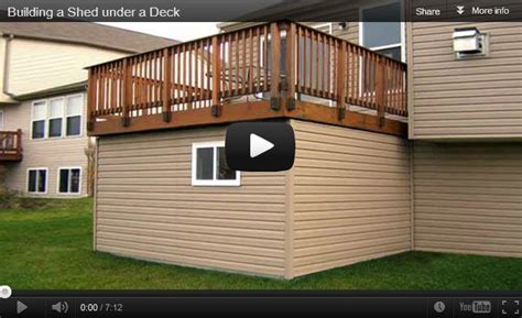 How To Build A Shed A Deck by Building A Shed A Deck By Panofish Lumberjocks