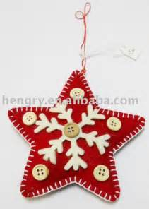 159001 hot sale handmade felt christmas ornaments star