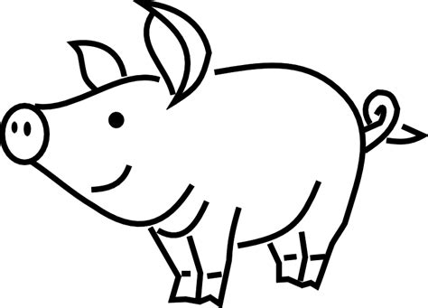 pig clipart black and white pig clip black and white clipart panda free