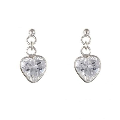 Sterling Silver Cubic Drop Ring sterling silver cubic zirconia drop earrings