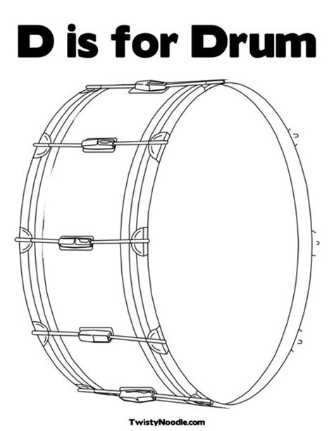 drum template drums coloring pages