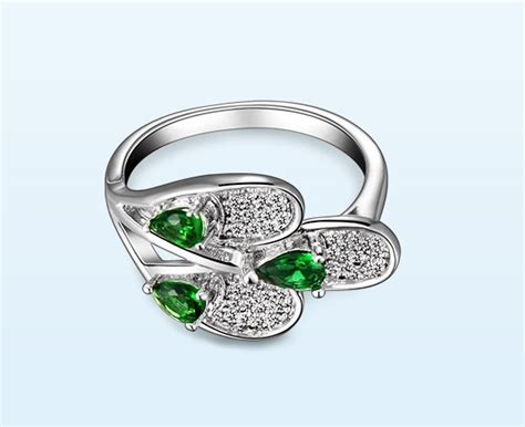 new design high quality emerald ring mmtjewelry