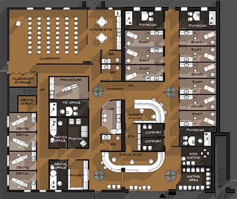 health center floor plan yoakum community health care center on behance