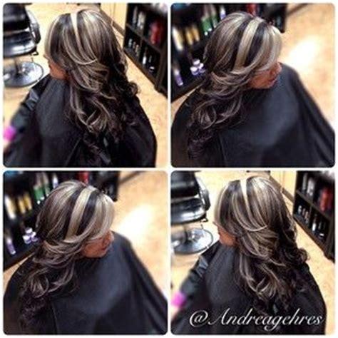 dark hair base with platinum highlights dark colours and love on pinterest