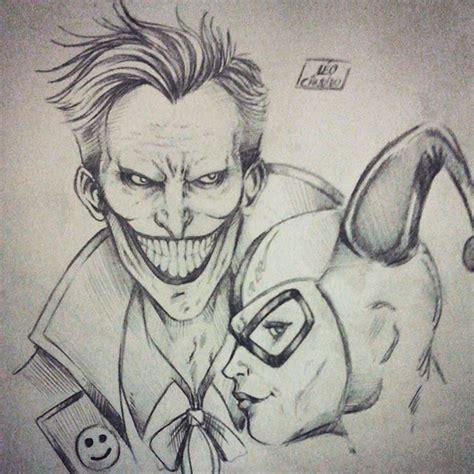 Drawings Of Joker And Harley Quinn image result for harley quinn and joker drawing dc vs