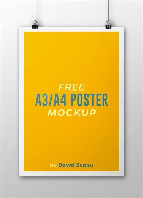 design poster a3 free a3 a4 poster mock up on behance